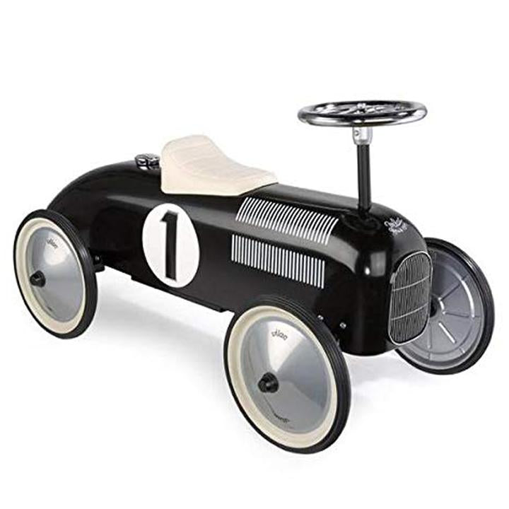 Vilac Metal Ride-On Vintage Racing Car - Black