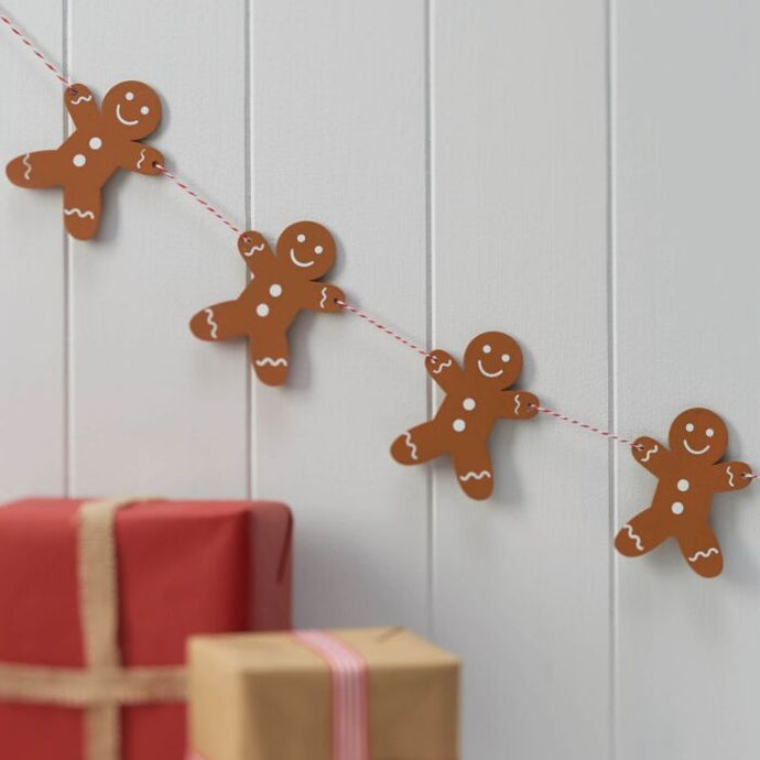 Gingerbread Man Wooden Bunting By Ginger Ray