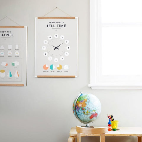 We Are Squared Educational Poster - Tell Time
