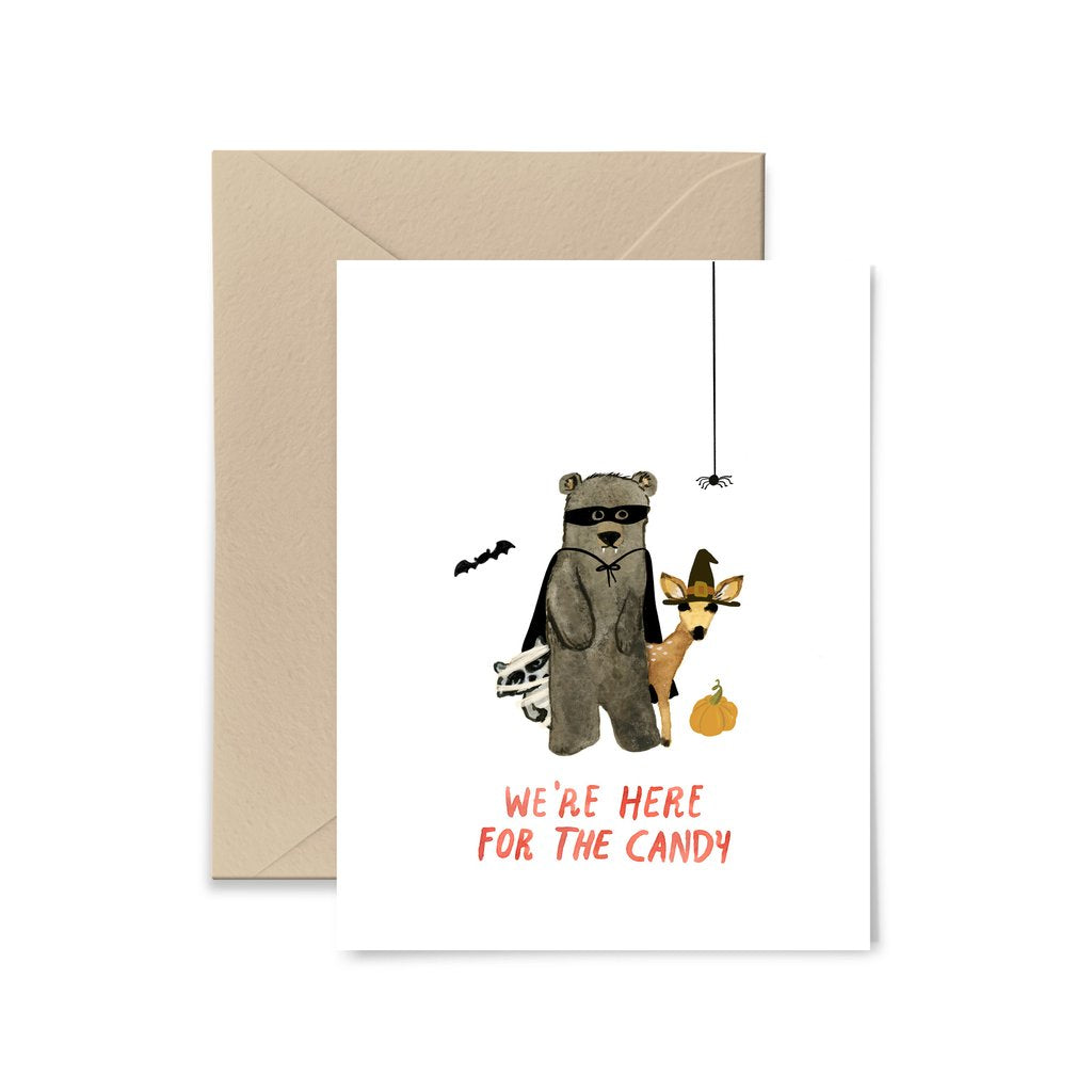 Here For the Candy Greeting Card by Little Truths Studio