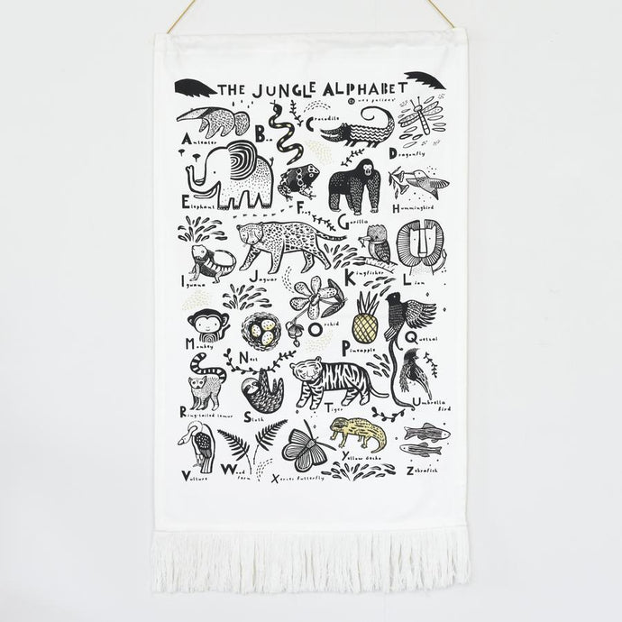 Wee Gallery Jungle Alphabet Tapestry