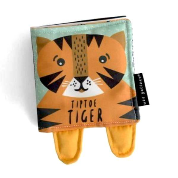 Wee Gallery Tip Toe Tiger - Soft Cloth Book | Soren's House