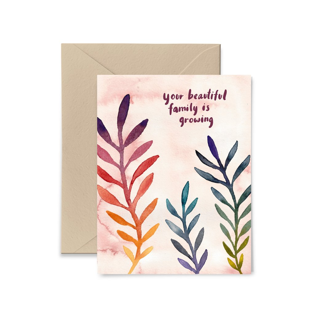 Your Beautiful Family is Growing Greeting Card by Little Truths Studio