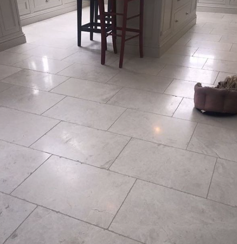 Tumbled Pale Marble