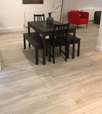 Colorado Oak Laminate Flooring supplied and fitted by SL Interiors