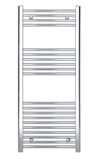 Curved Towel Warmer Chrome H:1200mm W:500mm