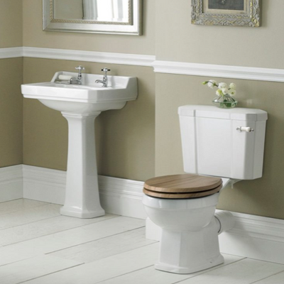 Cashel Close-Coupled Pan, Cistern & Soft-Close Seat & Cover