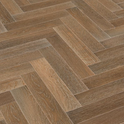 Oak Smoked, Limed & Brushed Herringbone 90