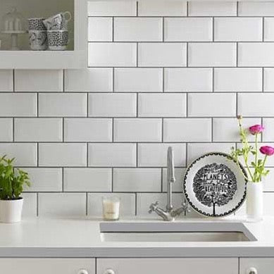 White Subway Splashback Tiles
