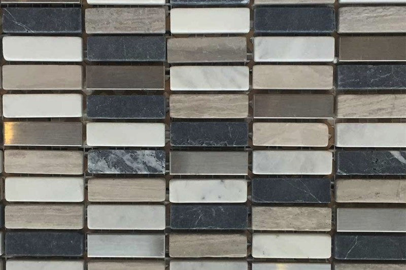 Mixed Marble and Metal Mosaic