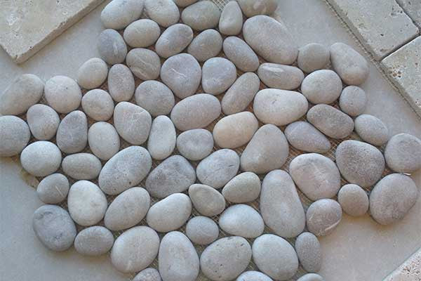 Pebble Marble Mosaic Tiles