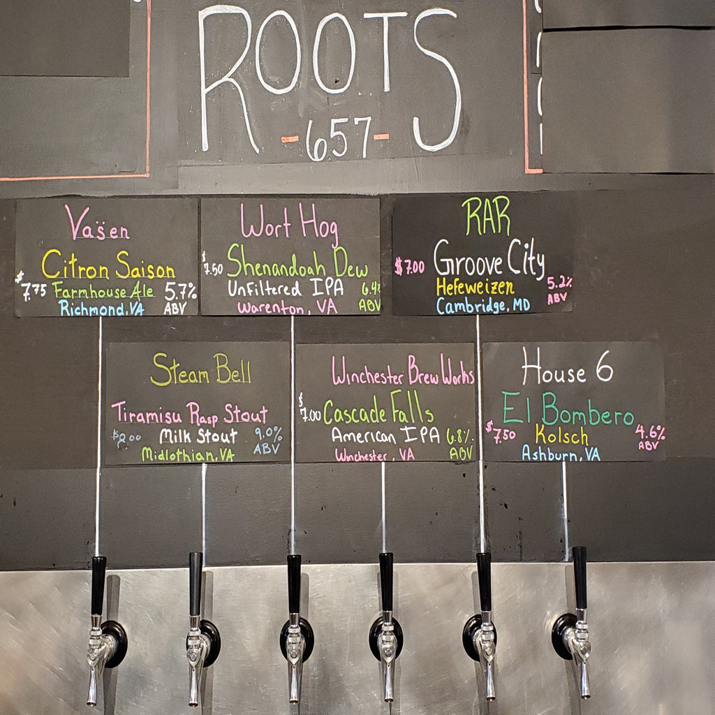 Local Craft Beer on Tap - 28oz
