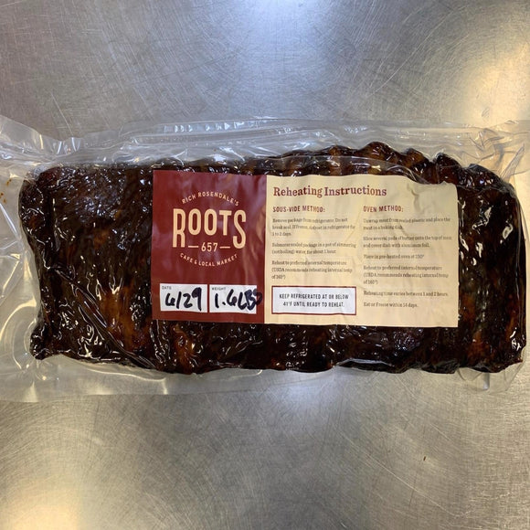 Chef Prepared - Roots Slow Cooked BBQ Ribs - Whole Rack (Deli Case / Freezer)