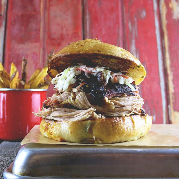 Country Pulled Pork Sandwich + Creamy Slaw