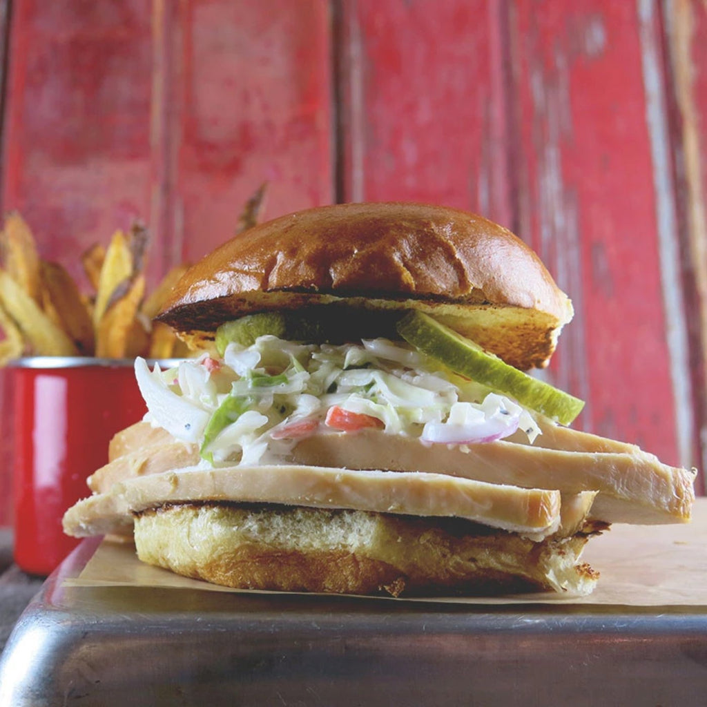 Smoked Turkey Sandwich + Creamy Slaw