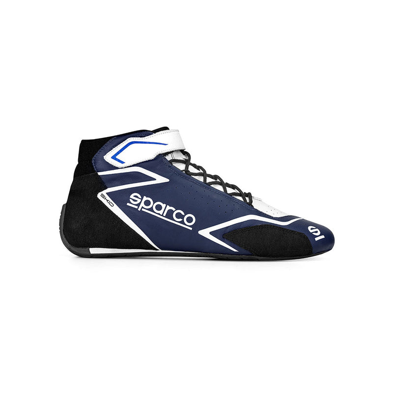 Sparco Skid Race Boot Navy Blue White