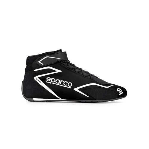 Sparco Skid Race Boot Black White