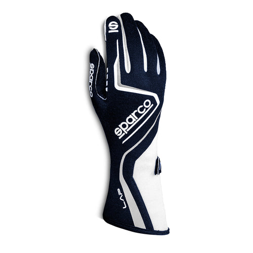 Sparco Lap Race Glove Navy Blue White