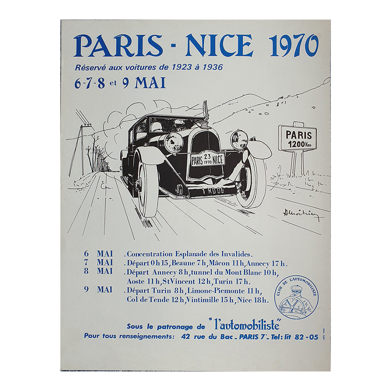 Paris to Nice 1970 Poster
