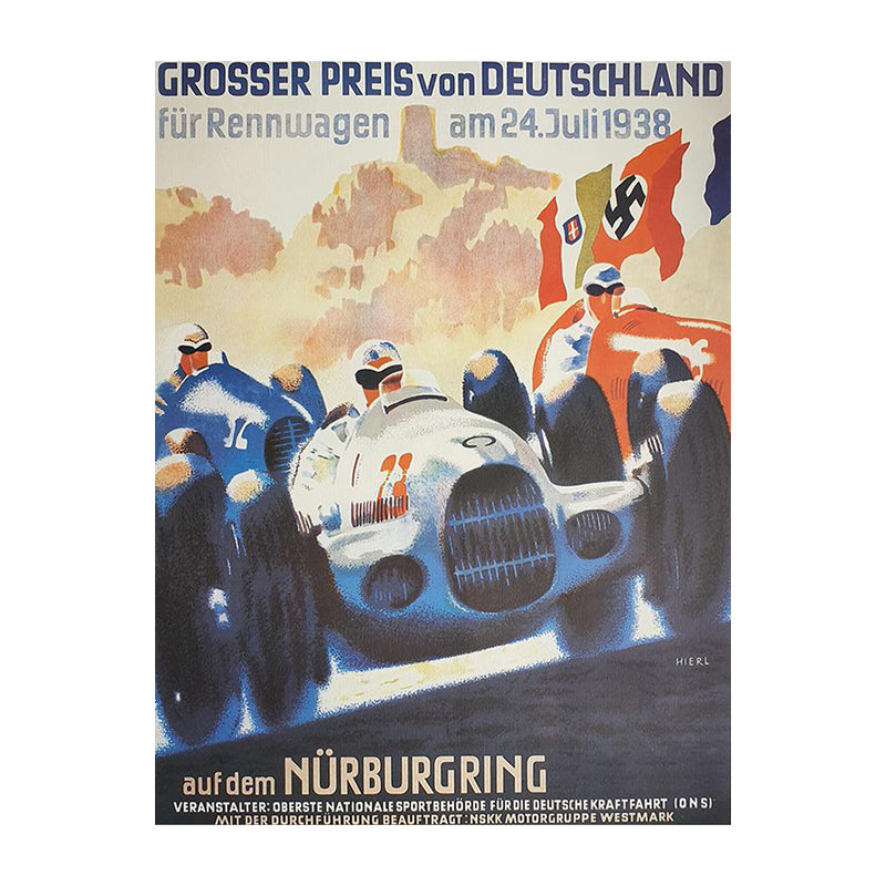 German Grand Prix 1938 Poster