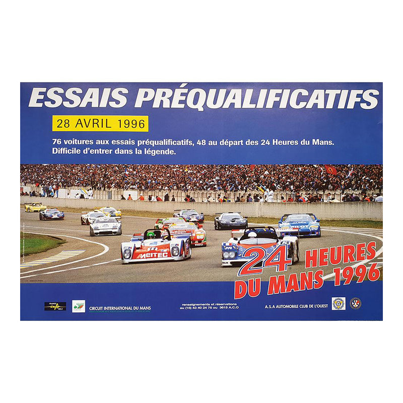 Le Mans 1996 Prequalifying Poster