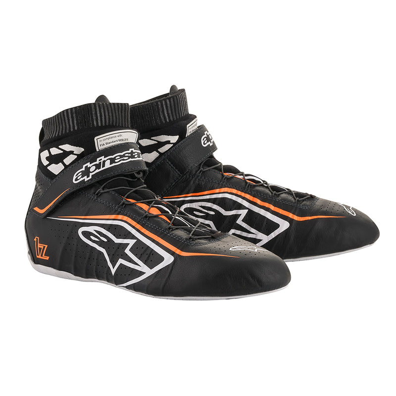 Alpinestars Tech 1-Z V2 Shoes Black White Fluro Orange