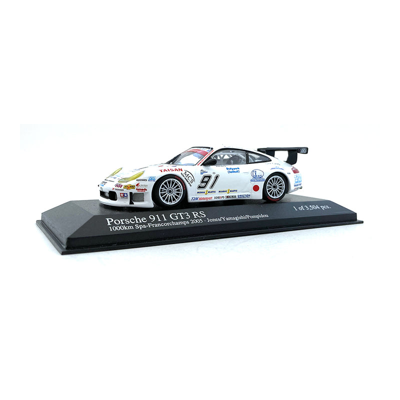 Minichamps 1/43 2005 Porsche 911 GT3 RS #91 Spa