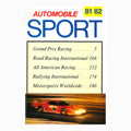 Automobile Sport Book 1981 - 1982