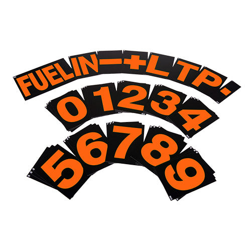 B-G Standard Orange Pit Board Number Set
