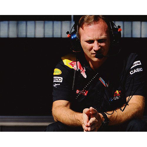 Signed photograph - Christian Horner