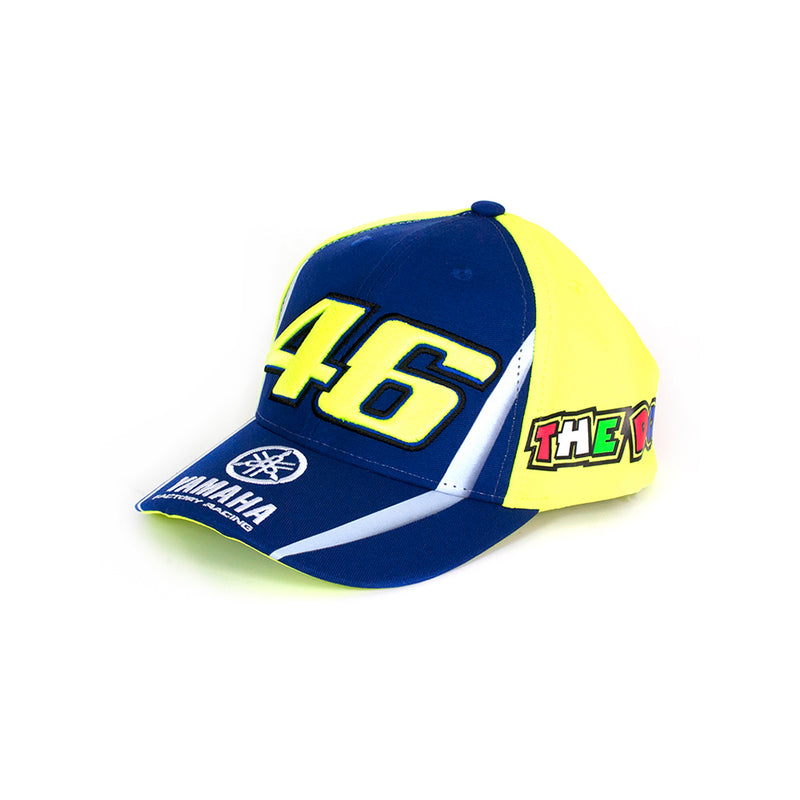 Valentino Rossi 46 Yamaha Blue Yellow Kids Cap