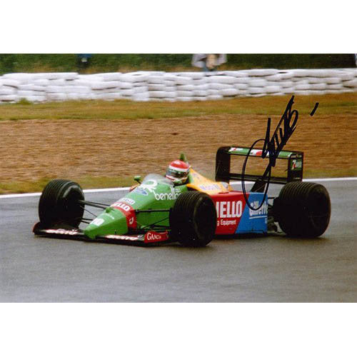 Signed photograph - Emanuele Pirro Benetton B189