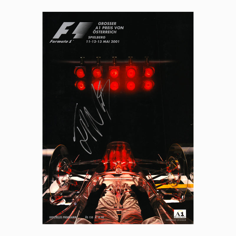 Programme - 2001 Austrian Grand Prix Signed