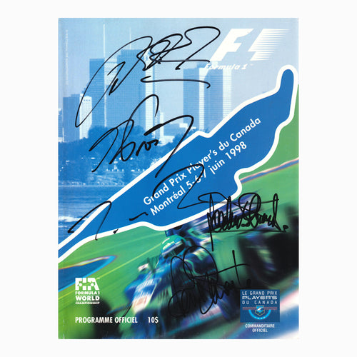 Programme - 1998 Canadian Grand Prix Signed