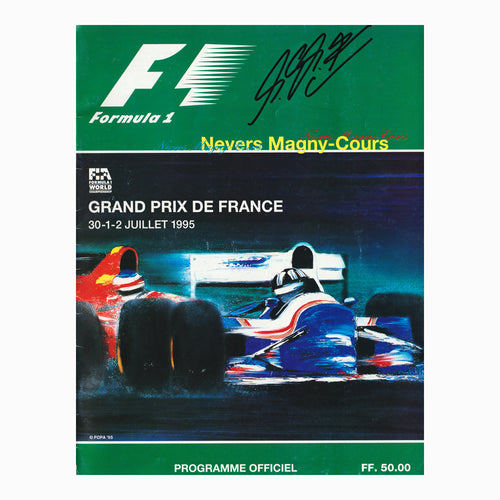 Programme - 1995 French Grand Prix Signed Schumacher