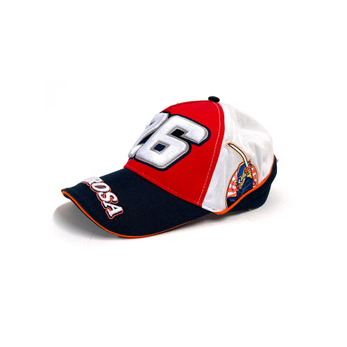 Pedrosa Red & White Cap