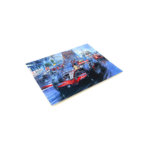 Lewis Hamilton 2008 World Champion by Nicholas Watts - Greetings Card NWC073