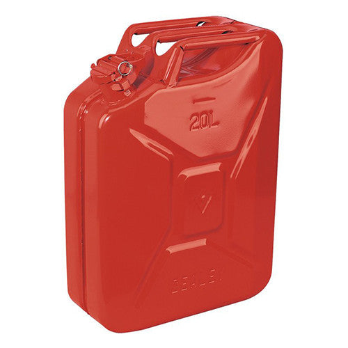 Sealey Jerry Can 20ltr - Red
