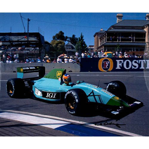 Signed photograph - Karl Wendlinger
