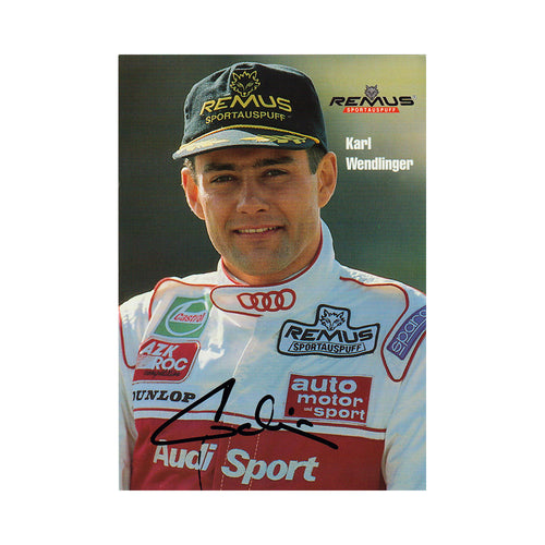 Signed Card - Karl Wendlinger