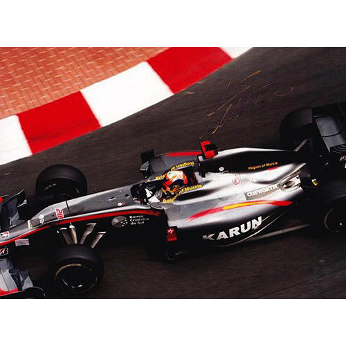 Signed photograph - Karun Chandhok