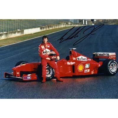 Signed photograph - Eddie Irvine