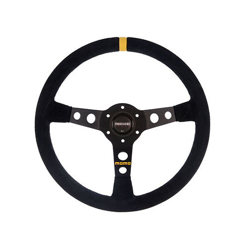MOMO #07 Steering Wheel Black Suede 350