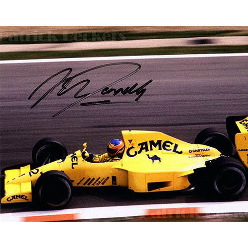 Signed photograph - Martin Donnelly