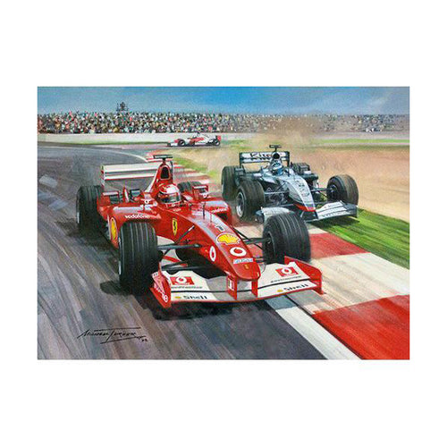 Michael Turner - 2002 French Grand Prix an Original Painting