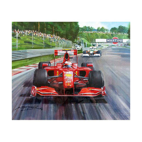 Michael Turner - 2009 Belgian Grand Prix an Original Painting