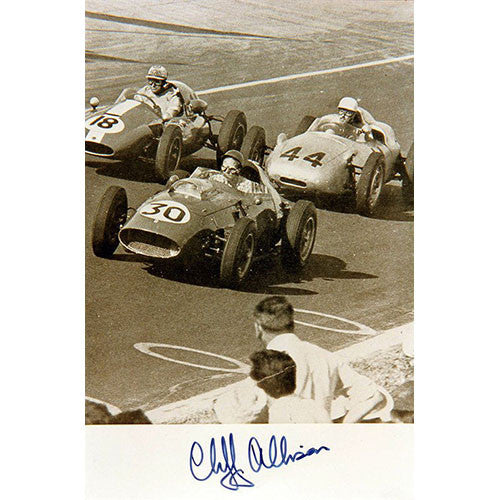 Signed photograph - Cliff Allison