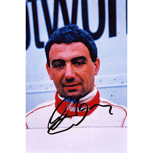 Signed photograph - Michele Alboreto