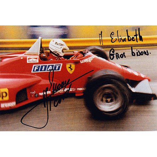 Signed photograph - Rene Arnoux #2