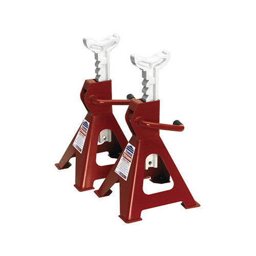 Sealey Axle Stands (Pair) 2tonne Capacity per Stand Ratchet Type